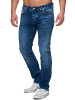 TAZZIO Herren Denim Stretch-Jeans Slim Fit 16531