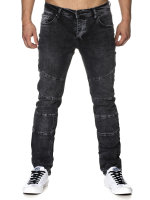 Tazzio Herren Jeans Regular Fit im Destroyed Look J-1006