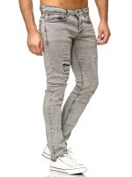 Tazzio Herren Jeans Slim Fit im Destroyed Look 16525