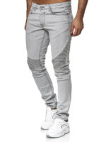 TAZZIO Herren Denim Biker-Jeans im Destroyed Look Slim...