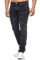 Tazzio Herren Jeans Regular Fit im Destroyed Look 17505